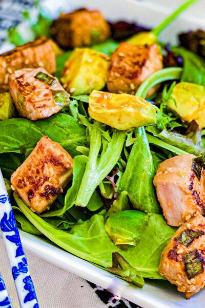 Seared Avocado Poke Salad Recipe