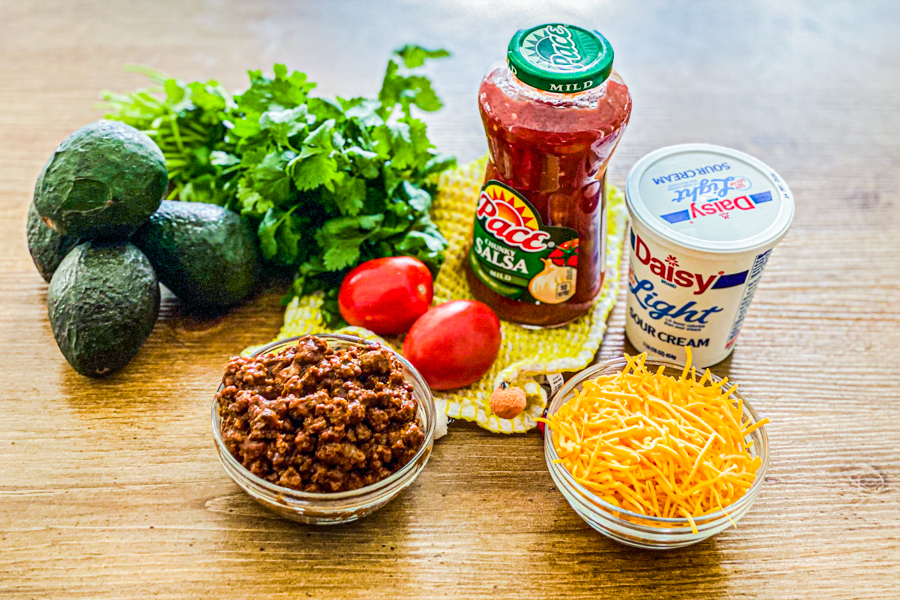 Ingredients for Avocado Taco Boats