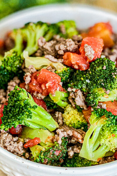 Broccoli and Beef Italian Bowl