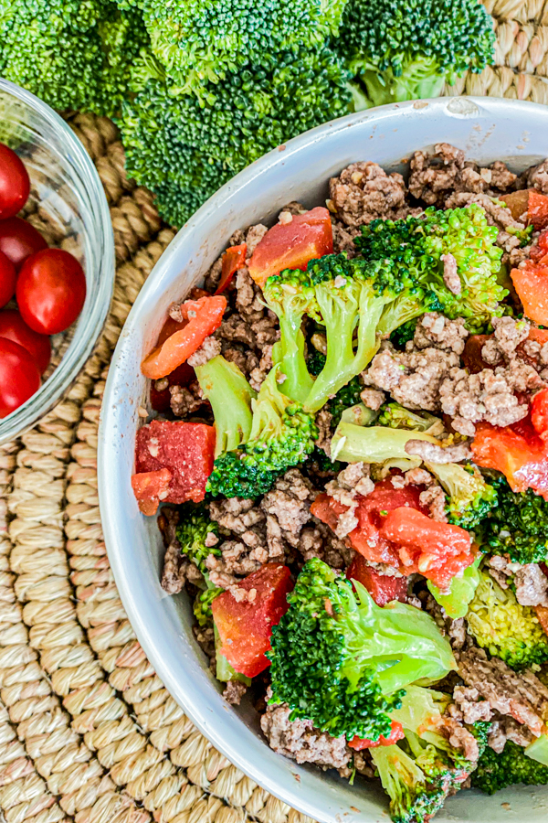 Broccoli and Beef Taco Bowl