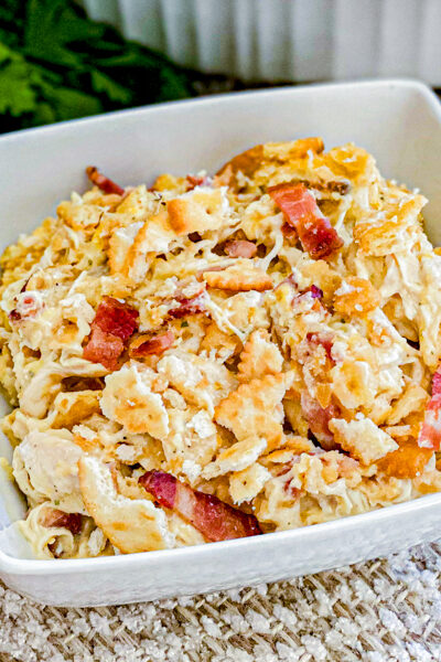 Creamy Chicken Bacon Casserole