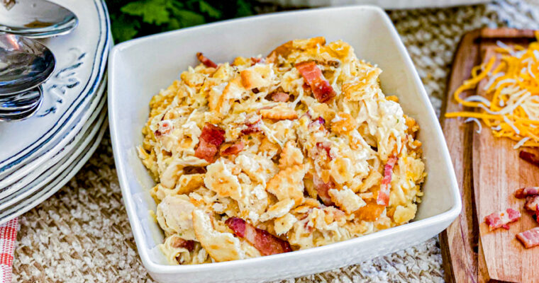 Creamy Chicken Bacon Casserole