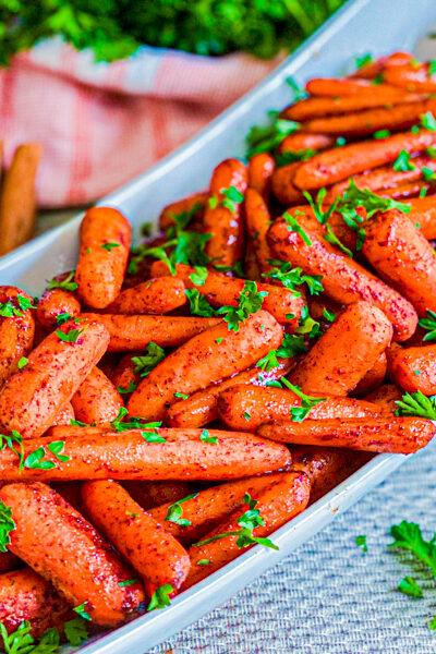 Roasted Maple Glazed Baby Carrots