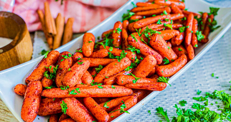 Roasted Maple Glazed Baby Carrots
