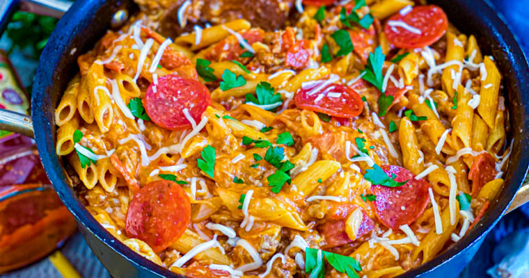 Cheesy Pepperoni Pizza Pasta
