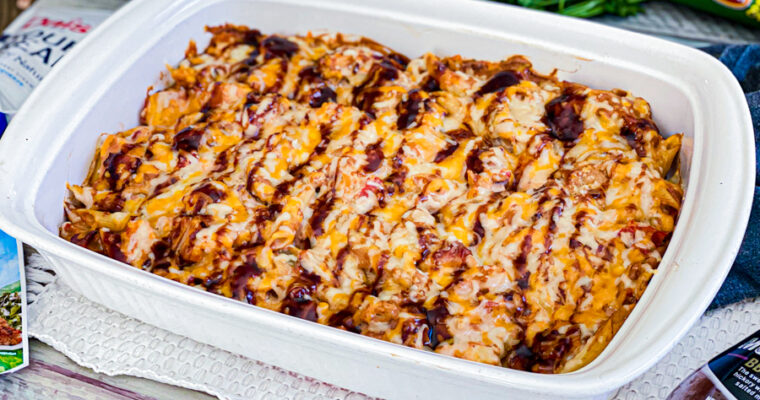 BBQ Chicken Casserole with Pasta