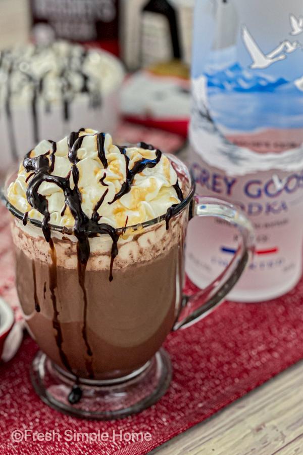 Creamy Vodka Hot Chocolate