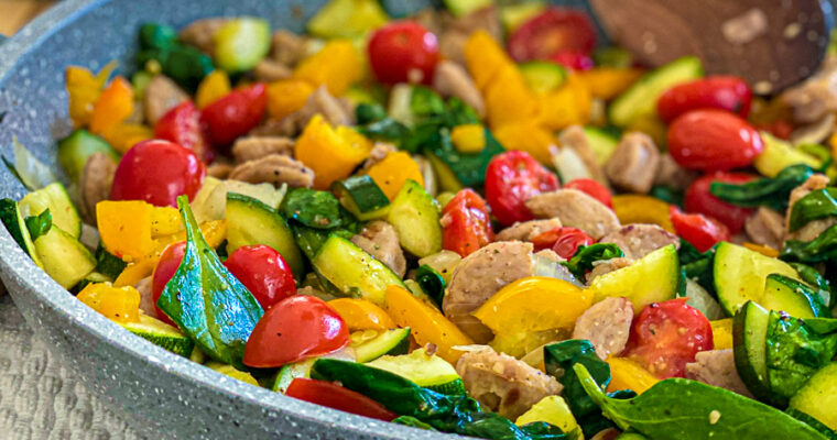 Healthy Chicken Sausage Skillet