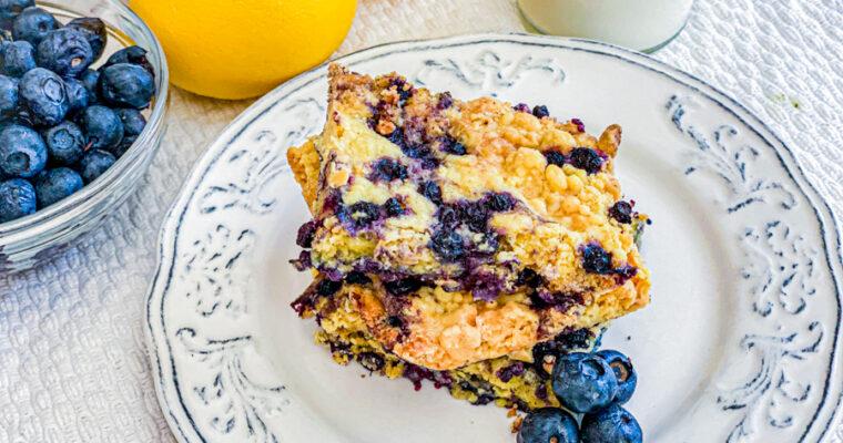 3 Ingredient Blueberry Dump Cake