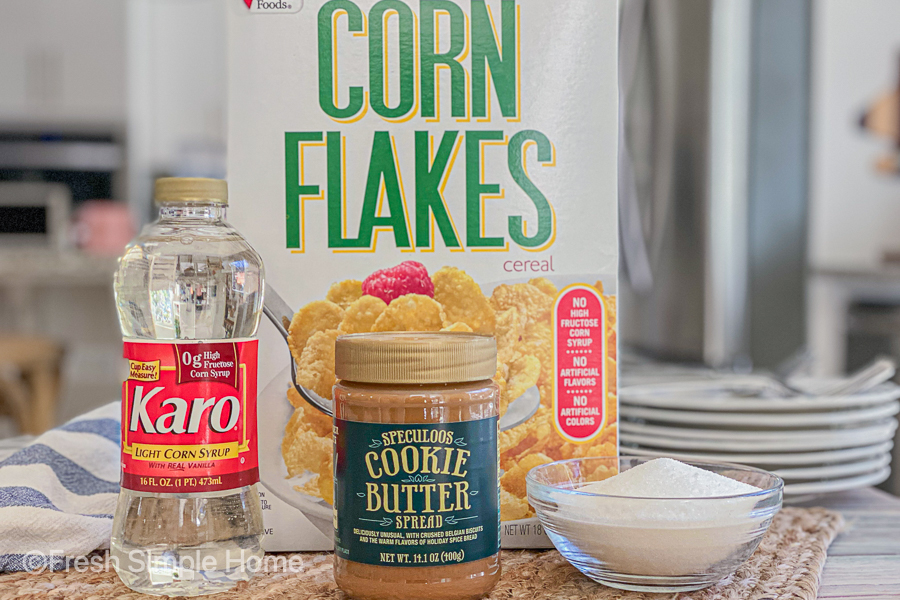 The ingredients for the Trader Joe's Cookie Butter Cookies on a table.