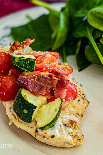 Baked Italian Chicken Breast with Veggies