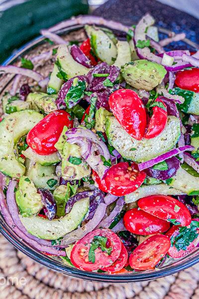 Vegan 7 Ingredient Greek Salad