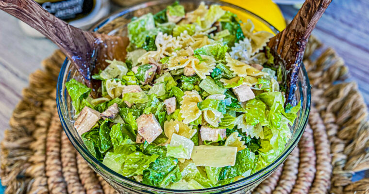 Zesty Chicken Caesar Pasta Salad